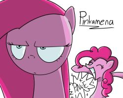 Pinkamena and Pinkie by SapsDrow