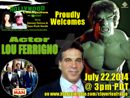 Hollywood Connection Show Flyer - Lou Ferrigno by simplemanAT