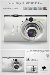 Canon Digital IXUS 80 IS icon by Jaanos