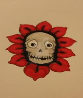 tattoo skull...flower...thingy by mete93
