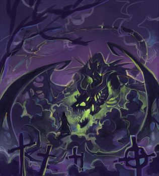Undead dragon by Drkav