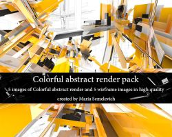 Colorful abstract render pack by MariaSemelevich