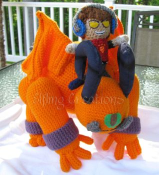 Krubble and Meade - Monster Tale Plushies by merigreenleaf