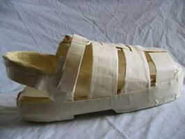Masking Tape shoe by siostra-rana