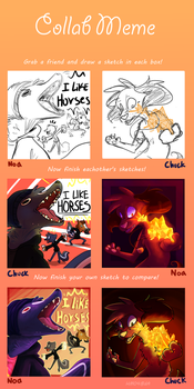 Collab Meme with Chuck by NoasDraws