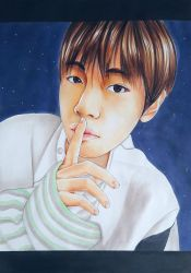 BTS V Portrait by AneoFluff