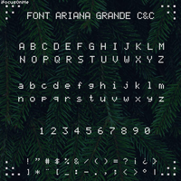 + FONT CHRISTMAS AND CHILL || ARIANA GRANDE by swxt-moon