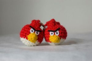 angry birds keychain by pirateluv