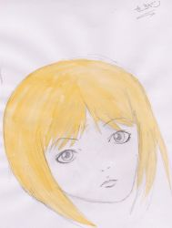 Blonde charactor by syung