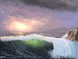 Morning Wave Practice by TomTC