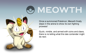 Smash Profile - Meowth by Ultimatethinker721