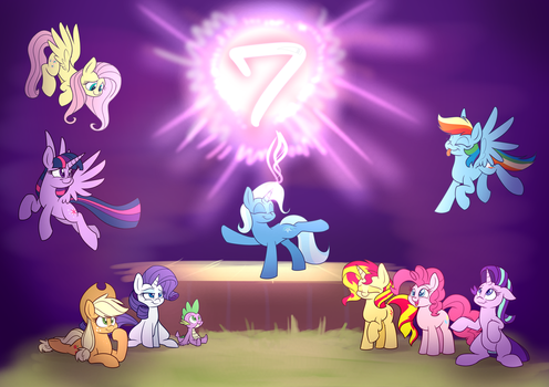 7th Poniversarry by Heir-of-Rick