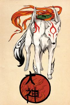 Ookami Amaterasu by Nekopico-pen
