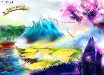 The Girl with the Diamond Wings: World Map by yuuike
