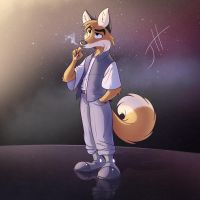 Space Fox by cashmeresky