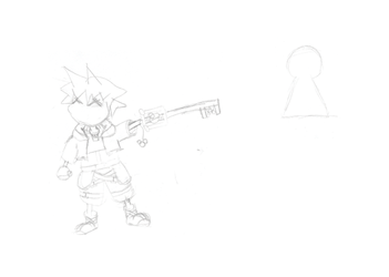 Sora Kingdom Hearts Lineart : Chibisora explore on deviantart