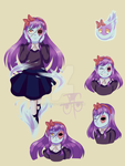 character design - ghost of purple hair by joseghp