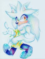 Silver the Hedgehog  (Speed Drawing) by Moon--Shield