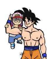 Goku's little big sister by RMAlexis