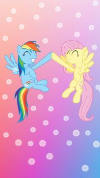 Fluttershy And Rainbow Dash  by prensestwilight01