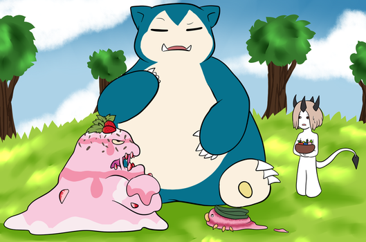 Hungry Snorlax by Moleberry