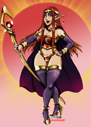 Fire Mistress Elf by neoanimegirl