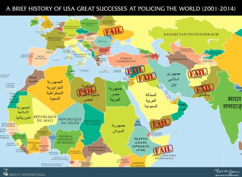 United States of Warmerica Policing the World by Bragon-the-bat