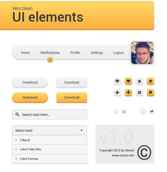 Very clean UI elements by Nexert