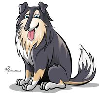 Collie Dog Caricature by timmcfarlin