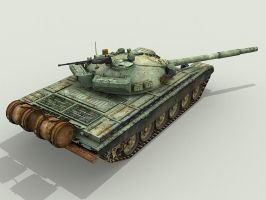T72 battle tank by floydworx