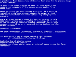 Blue Screen of Death by kevfilth
