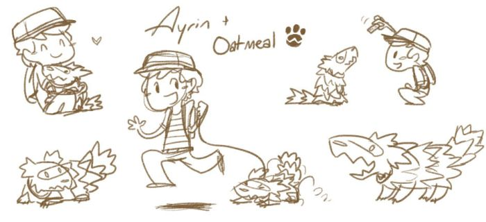Ayrin and Oatmeal by Zenity