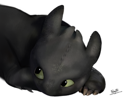 Toothless_speed painting by Rousetta