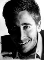 Jake Gyllenhaal graphite portrait by AkshatSH