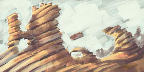 fast painting landscape 3 by bezzemes