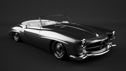 1961 Mercedes 190SL custom by bewsii