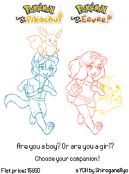 Pokemon Let's Go! the YCH - $15 (CLOSED) by shiroganeRyo