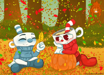 Cuphead: Pretty Leaves by Clairbanthedoll