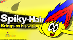 Super Smash Splash (New Rebrand) Spiky-Hair test by KentaDavidofKT