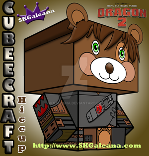 How to Train Your Dragon 2 Teddy Hiccup cubeecraft