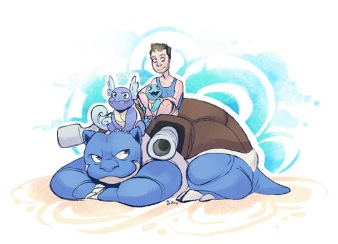 Justin and his Squirtle Squad by mmishee