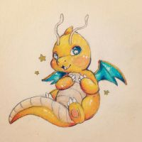 Chibi Dragonite (Gift) by cattuccino