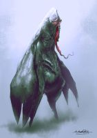 Seamonster Concept Sketch by MitchGrave