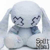 Pale Blue Bunny by splitmindplush