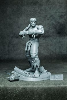 Battle Ryu ( resin statue ) by GVDigitalSculptor