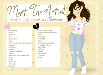 Meet The Artist by CARTOONFANATIC3