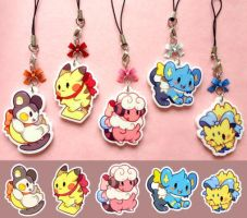 Pokemon Cell-phone Charms by Mi-eau