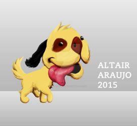 Cartoon Illustration | Character design | Dog by AltairAraujo