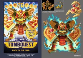 Tombquest 1: Book of the Dead (Shield Golem) by Nidaram