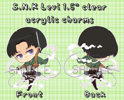 Attack on Titan Levi charms! by mameshii